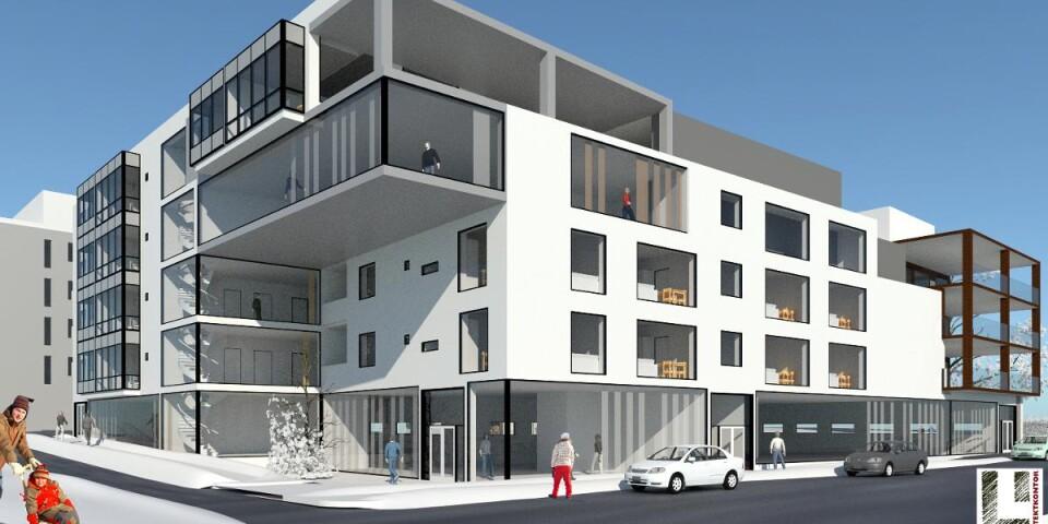 Det nya bostadsområdet Bajonetten får nya butiker, kontorslokaler, en förskola och 200 lägenheter.