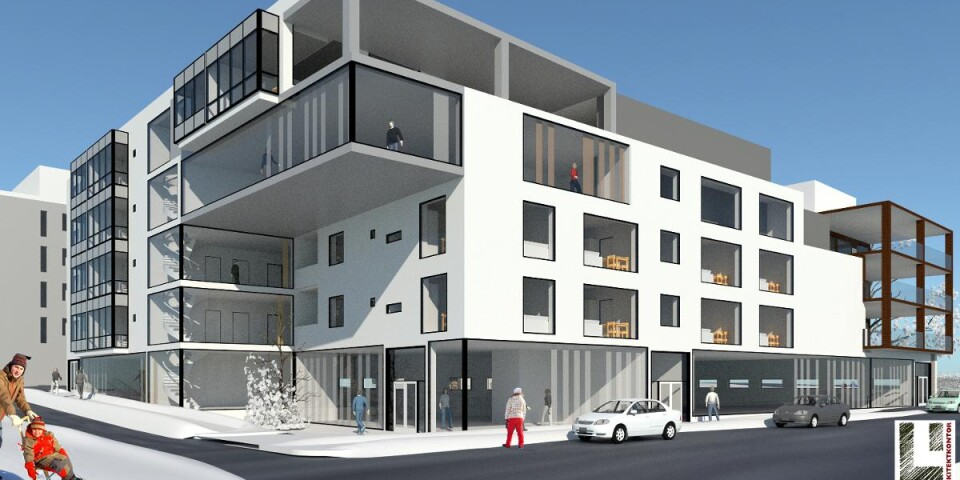 The new residential area Bajonetten will have new shops, office space, a preschool and 200 apartments.