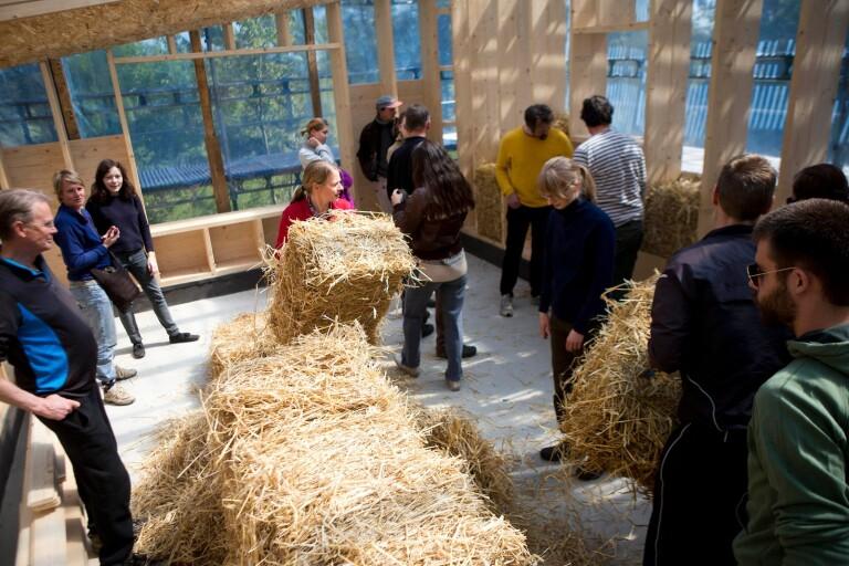 Från workshop om vilda växter till halmhusbygge