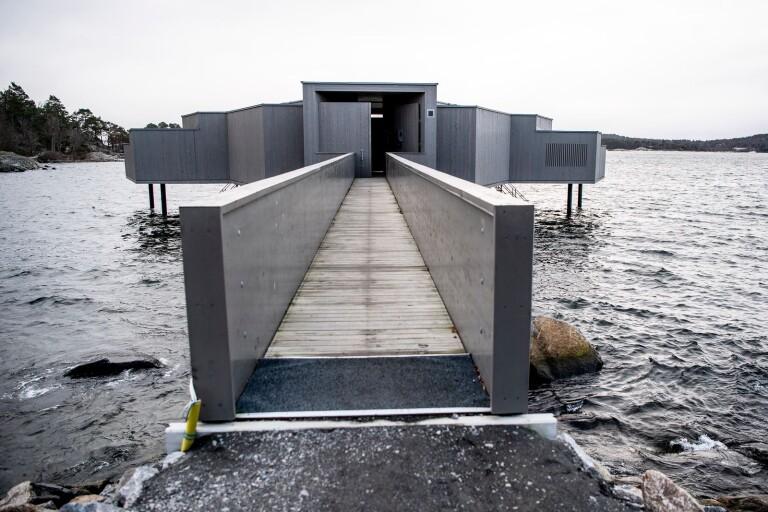Larm om farligt utsläpp vid kallbadhuset var nytt poolbygge