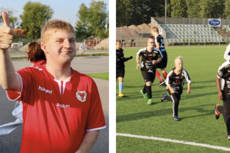 Fotbollen skapar glädje för alla lirare
