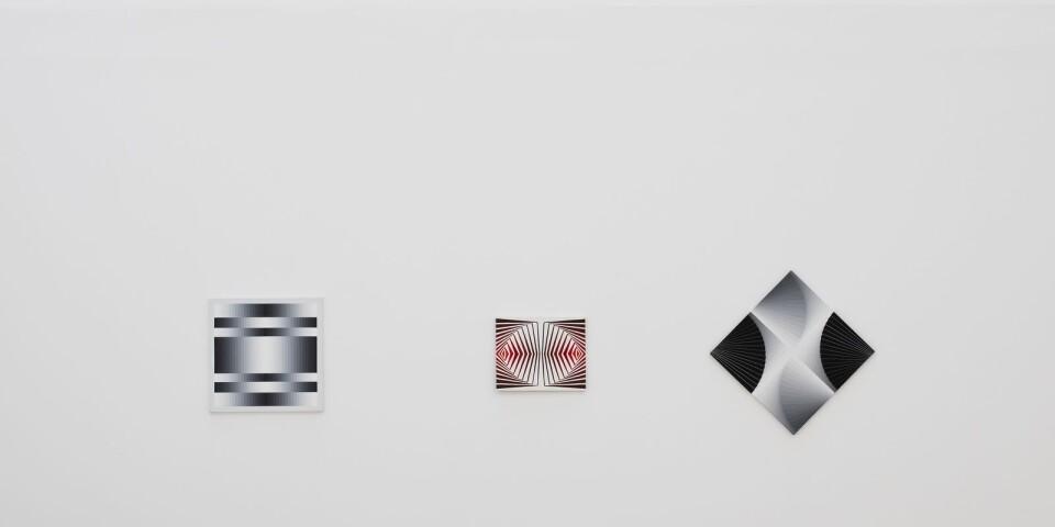 Tre av Inger Ekdahls verk på den aktuella utställningen på Malmö konsthall.