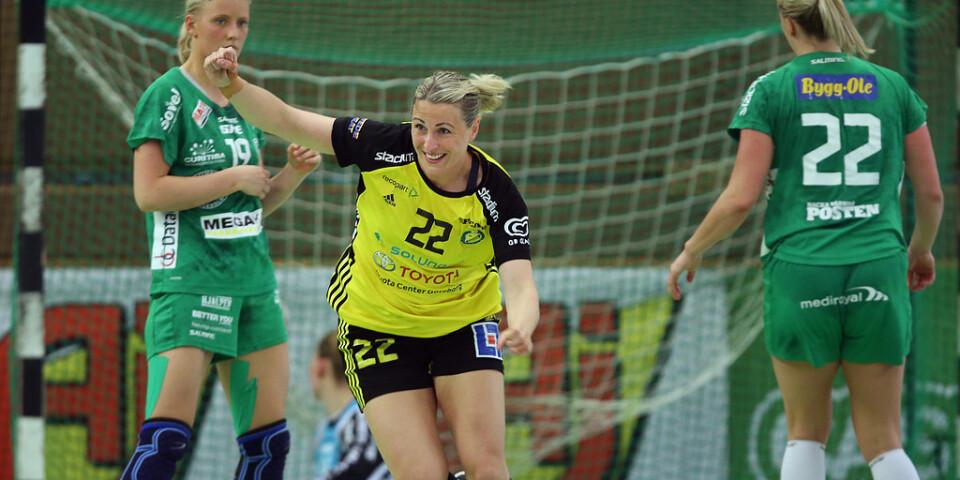 Sävehofs Johanna Ahlm under SM-finalen mot Skuru – hennes sista handbollsmatch i karriären.