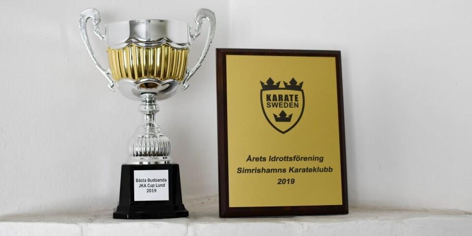 """Vid Svenska Karateförbundets årsstämma, den 14 mars, tilldelades Simrishamns karateklubb priset """"Årets idrottsförening 2019""""."""
