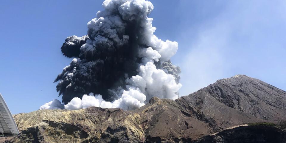Vulkanutbrottet i en bild tagen i måndags.