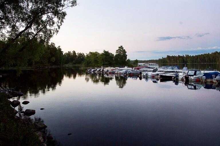 Buller över sjön i Växjö