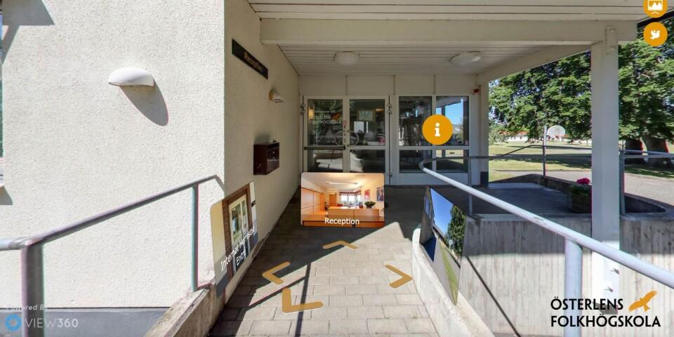 Med hjälp av View 360 kan alla som är nyfikna på skolan nu gå en virtuell rundtur.