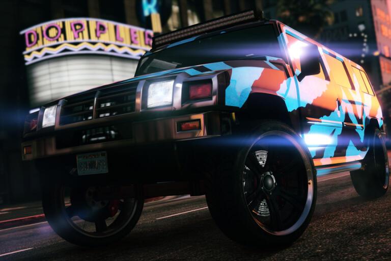 """Spelarna fick ta en två timmar lång paus från """"GTA online"""". Pressbild."""