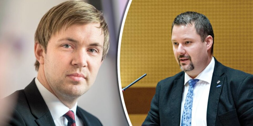 Magnus Manhammar (S) polisanmäler SD:s ordförande i Karlskrona, Christopher Larsson.