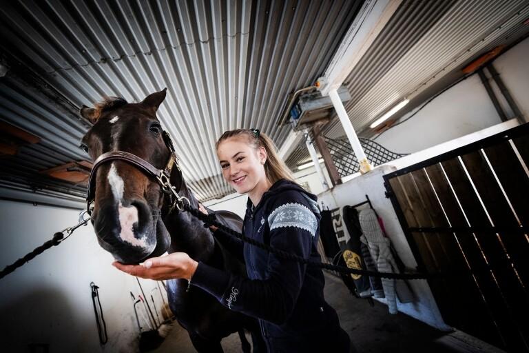 18-årig ryttartalang siktar på seger i Falsterbo Horse Show