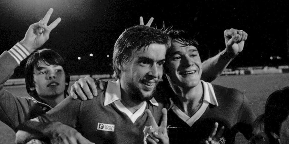 Björn Reinholdsson och Tomas Svensson firar 1978.