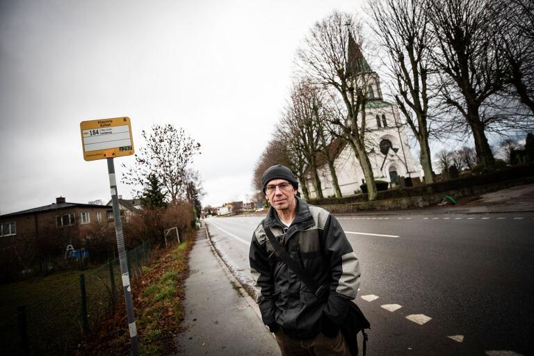 Nikolas Werngren upptäckte att Skånetrafikens nya zonindelning klyver Klagstorp mitt itu.