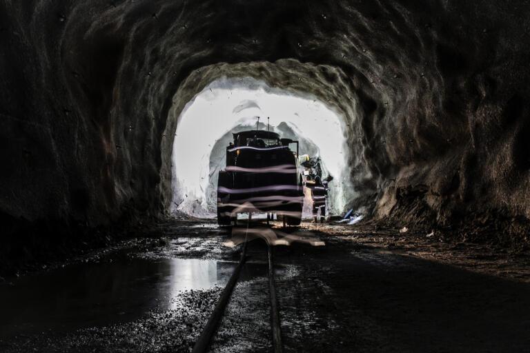 En kraftig sättning har skett i gruvan i Malmberget. Arkivbild.