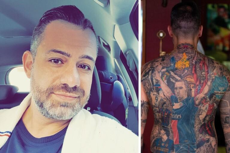 """Mahmod har fyllt hela ryggen med Zlatan: """"Mitt sätt att hylla honom"""""""
