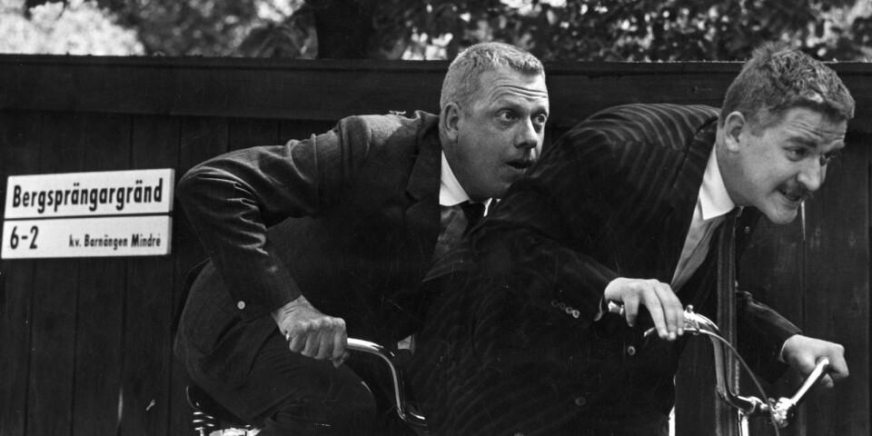 Tage Danielsson och Hans Alfredson var vänner och kollegor i nästan 30 år, fram till Tages död 1985.