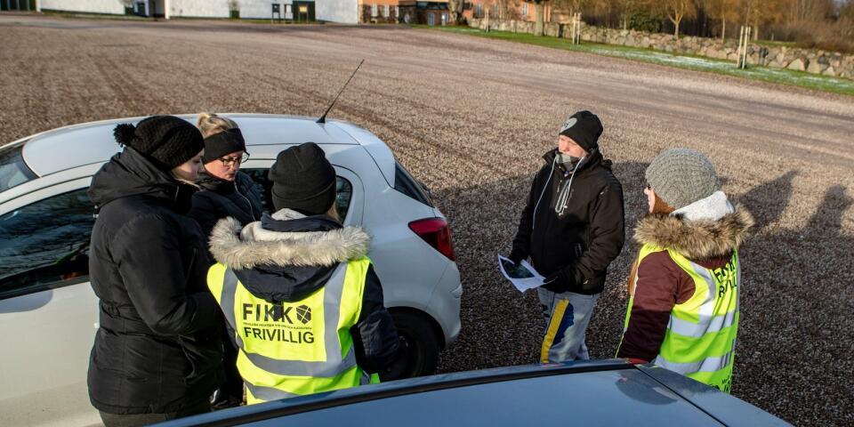 En grupp sökte vid Maltesholm och skogarna i närheten.