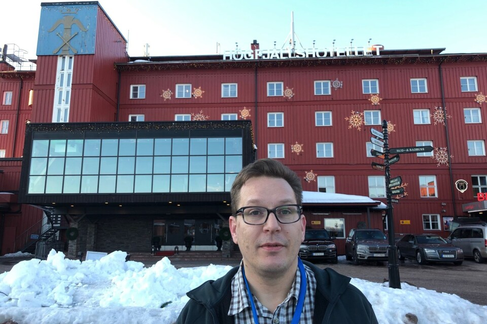 Barometerns Martin Tunström på plats i Sälen.