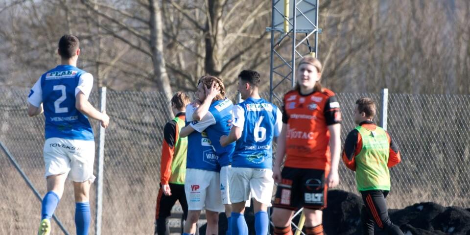 Ytterbacken Rasmus Persson kan bara konstatera att Oddevold gjorde matchens första mål.