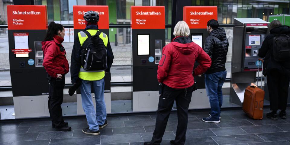 Problem med de nya biljettautomaterna på Malmö C under måndagen.