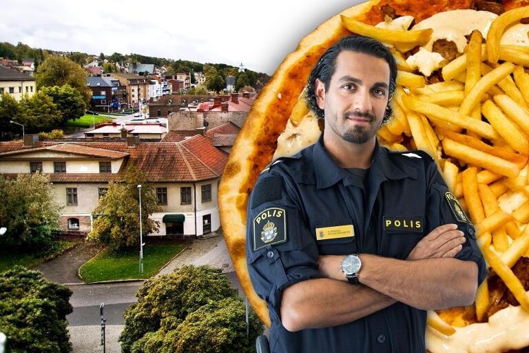 Nadim Ghazale växte upp i Ulricehamn, jobbar som kommunpolis i Borås och diskuterar samhällsfrågor i hela landet.