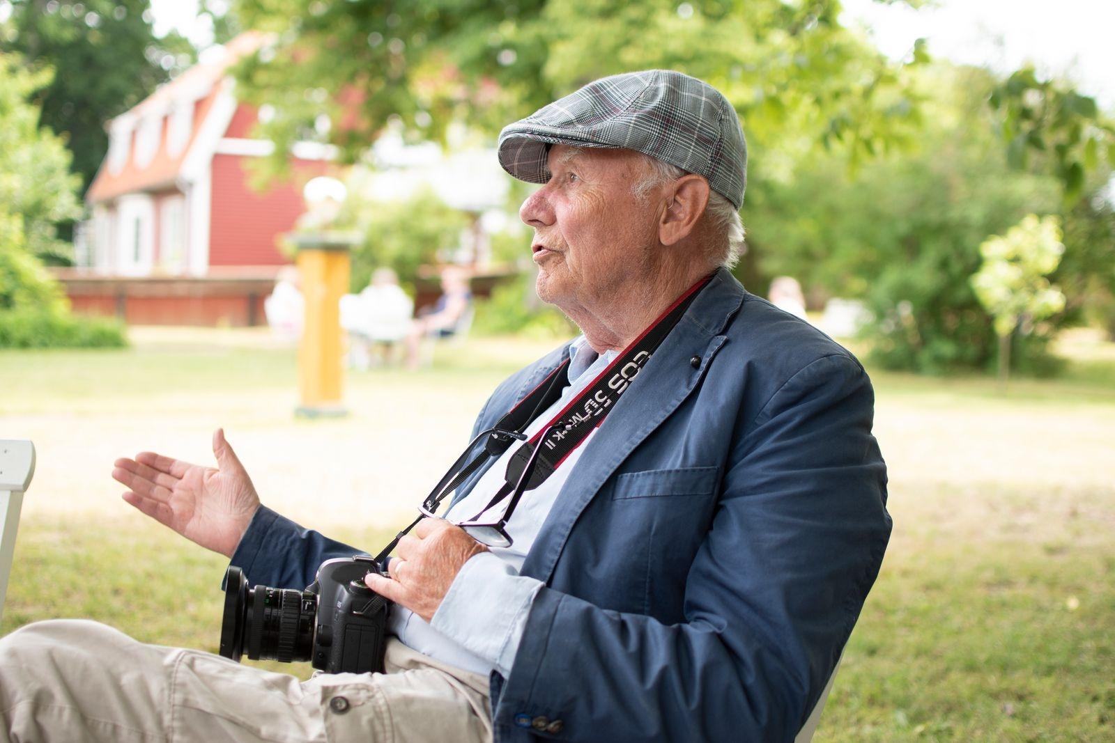 Göran Erlandsson är en av klubbens veteraner och har varit medlem sedan 50-talet då han även arbetade på Skotte Foto. Hans bästa tips till andra fotografer är att bli vän med sin kamera.