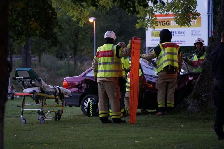 Person till sjukhus efter olycka