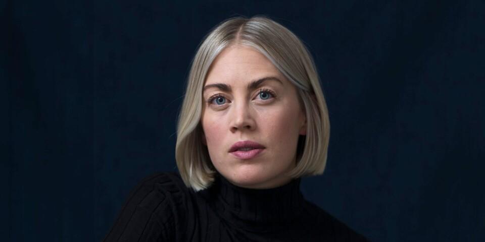 Självporträtt på årets Lars Tunbjörkpris-vinnare Elin Berge.