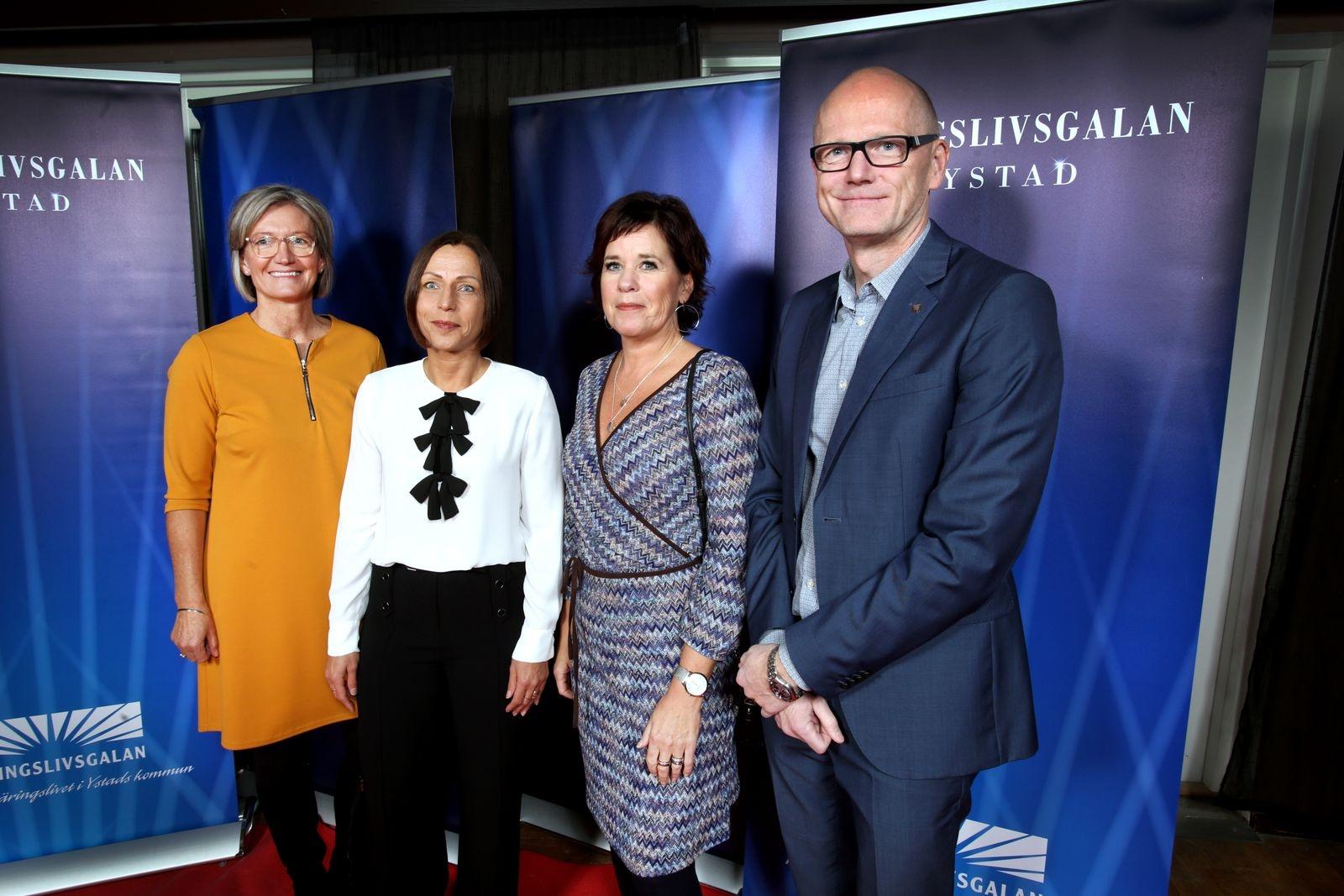 Maria Fridolf, YSB, Ann Richard Nilsson PWC, Lena Larsson och Tony Leo, Länsförsäkringar Skåne