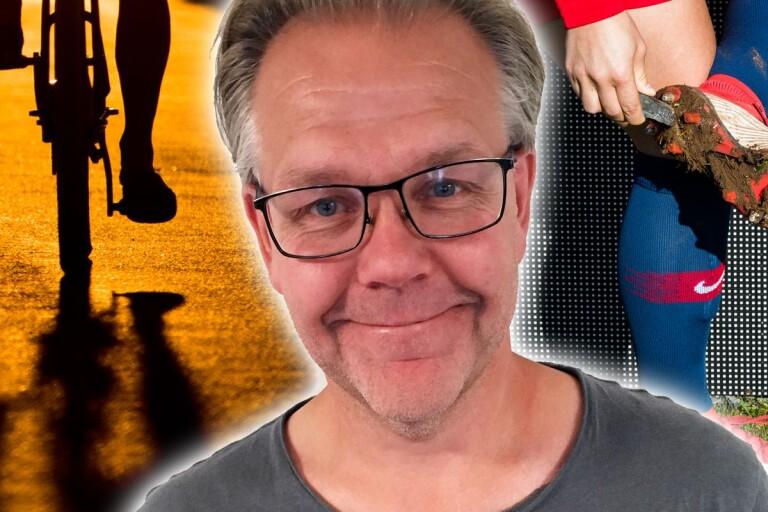 Håkan Rosenqvist: Att cykla med fotbollsskor – jädrar vad svårt