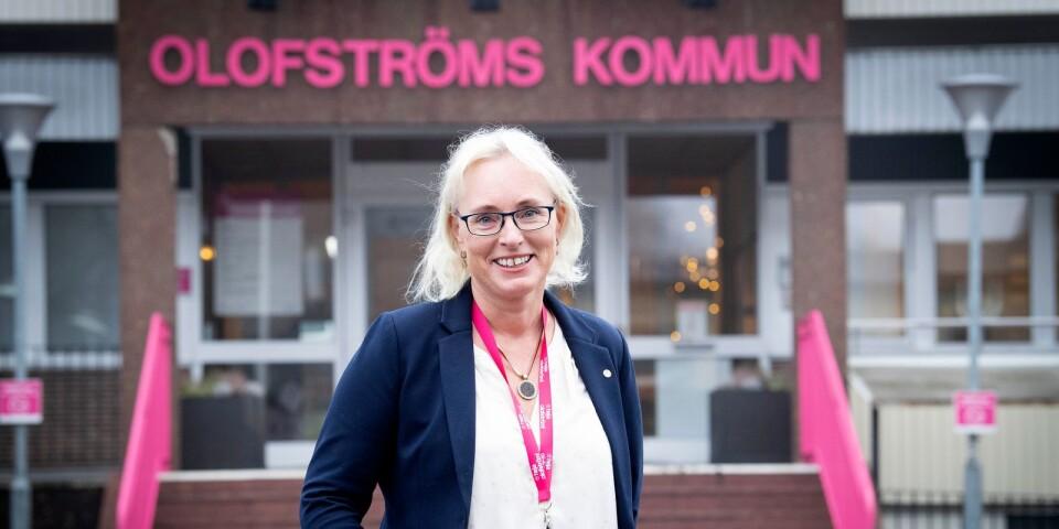Iréne Robertsson älskar sitt jobb som kommunchef i Olofströms kommun.