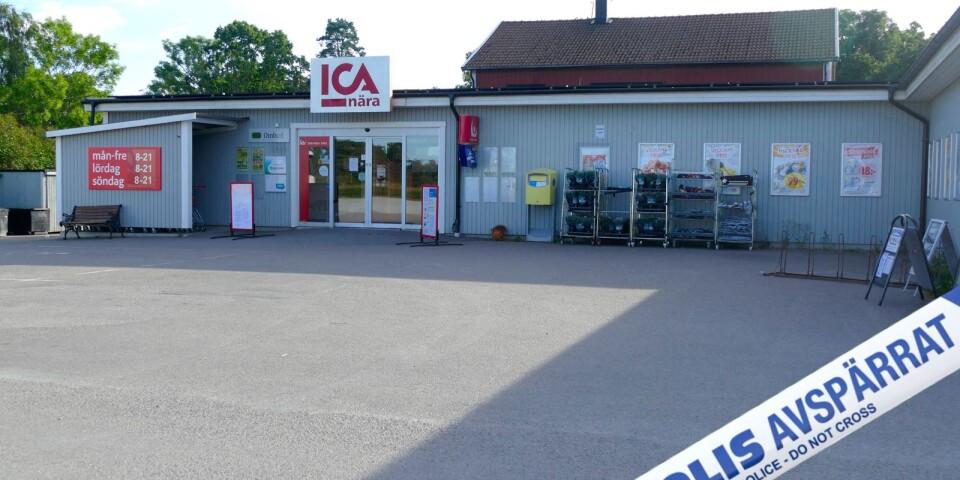Polisen larmades till ICA Nära i Böda klockan 01.22. OBS! Bilden är ett montage.