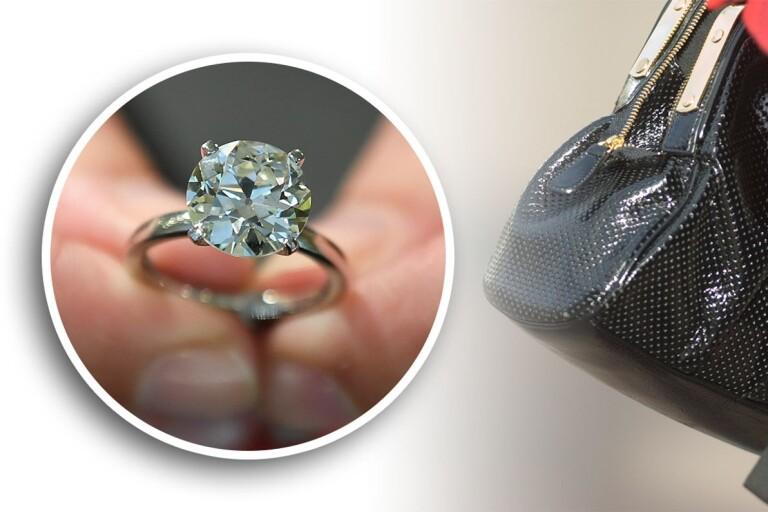 Väskryckare fick med sig diamantprydd förlovningsring