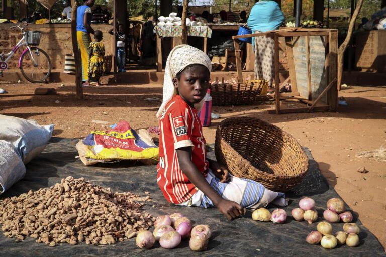 En förödande kombination av torka och återkommande jihadistiska uppror riskerar att leda till en allvarlig matbrist i delar av Burkina Faso. Arkivbild.