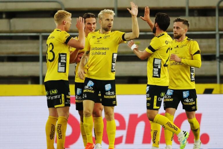 Johan Larsson gjorde 1–0 mot Häcken.