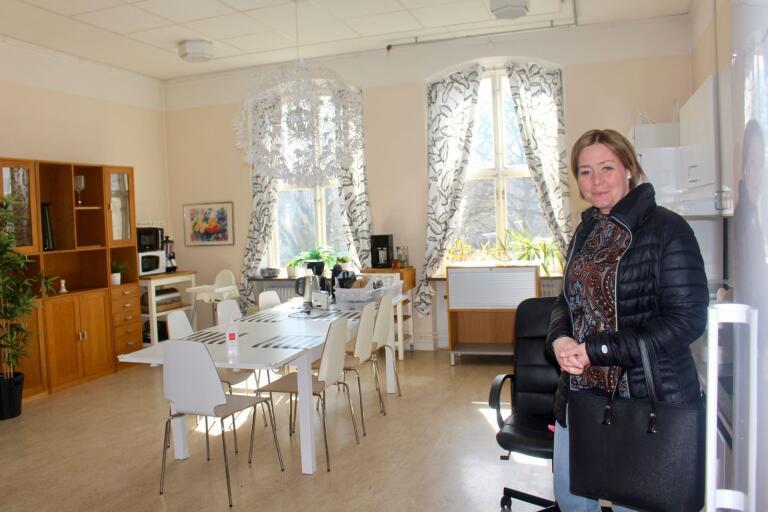 Anna Hasselbom Trofast på den evakueringsavdelning som etablerades tidigt.