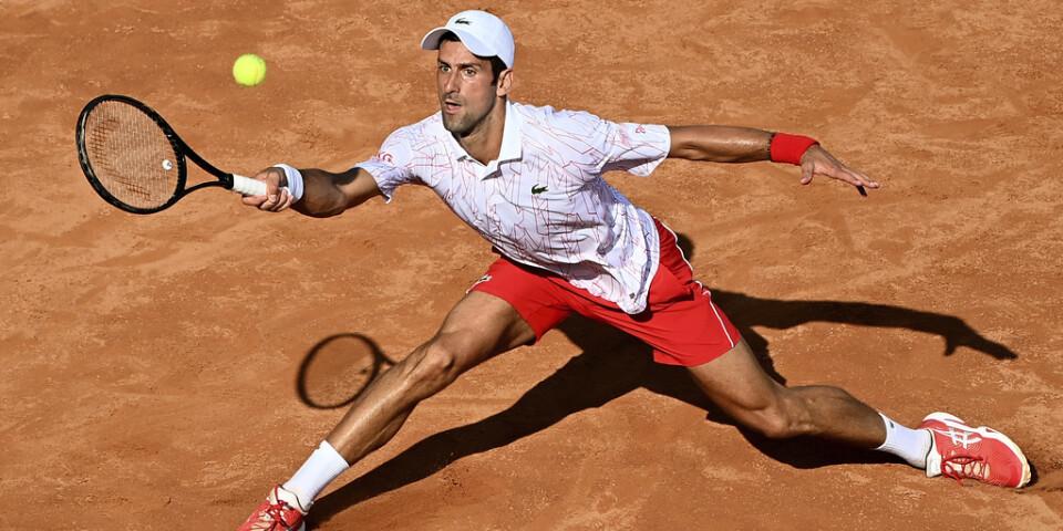 Novak Djokovic är klar för final i Rom.