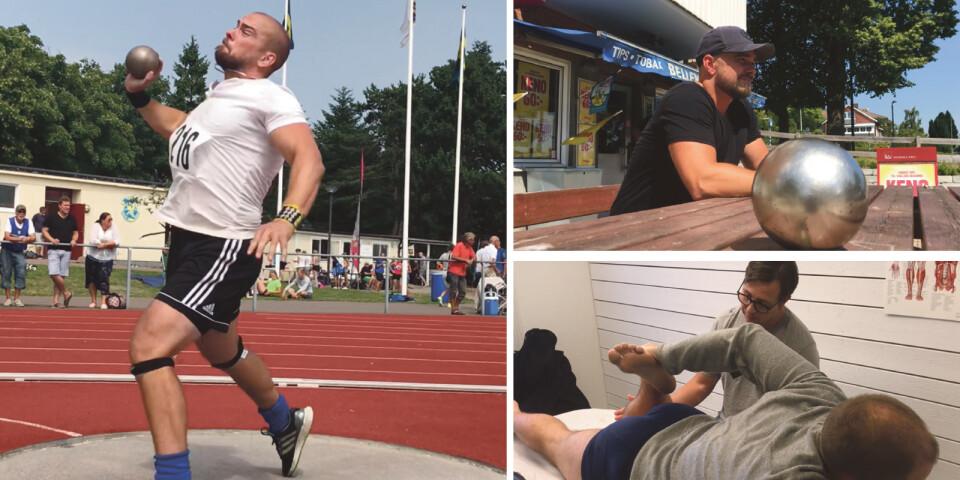 I det femte avsnittet av Kulstötaren från Hörby besöker Peter en sjukgymnast och får känna på att gå i Bellevuebacken – det straff han ger sig själv om det inte blir SM-medalj i helgen...