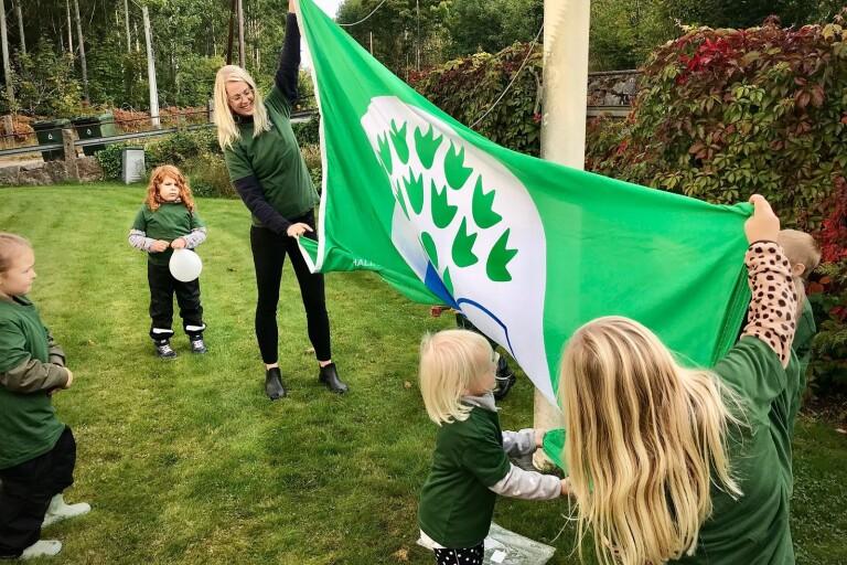 Först ut i kommunen med Grön flagg – förskola fokuserar på hållbar utveckling