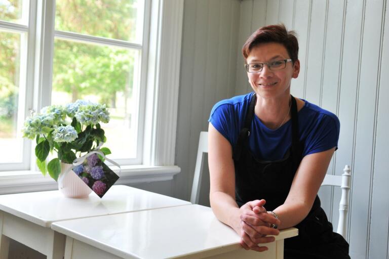 Sara Agnesson driver för andra året Kafé Kringlan på Evedal.
