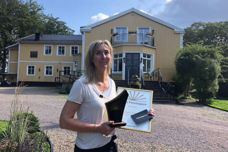 She is the entrepreneur of the year in Växjö