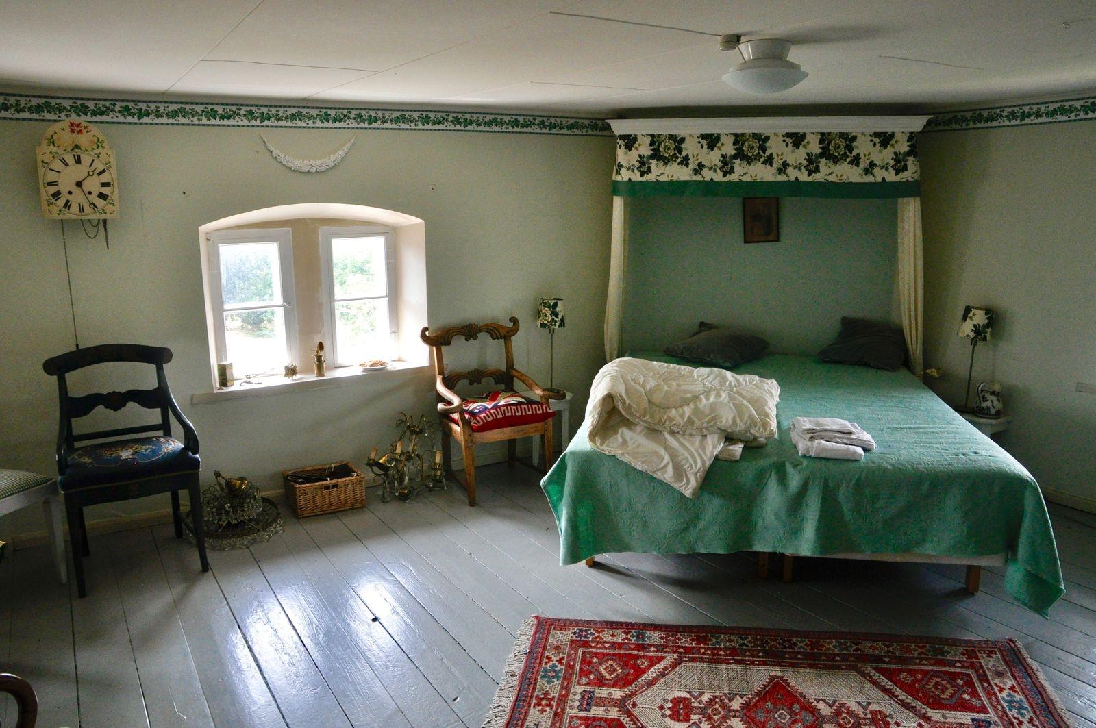 Ett av alla sovrummen högre upp i slottet.