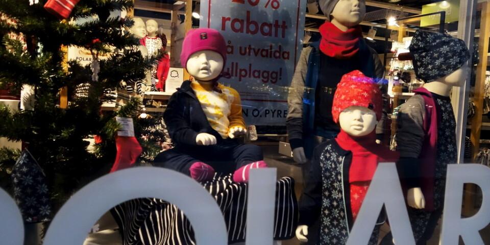 Försäljningen av kläder och skor i jul var en besvikelse för branschen. Arkivbild.