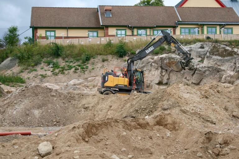 Sprängningsarbetet i kvarteret Svarven kommer att pågå fram till vecka 42.