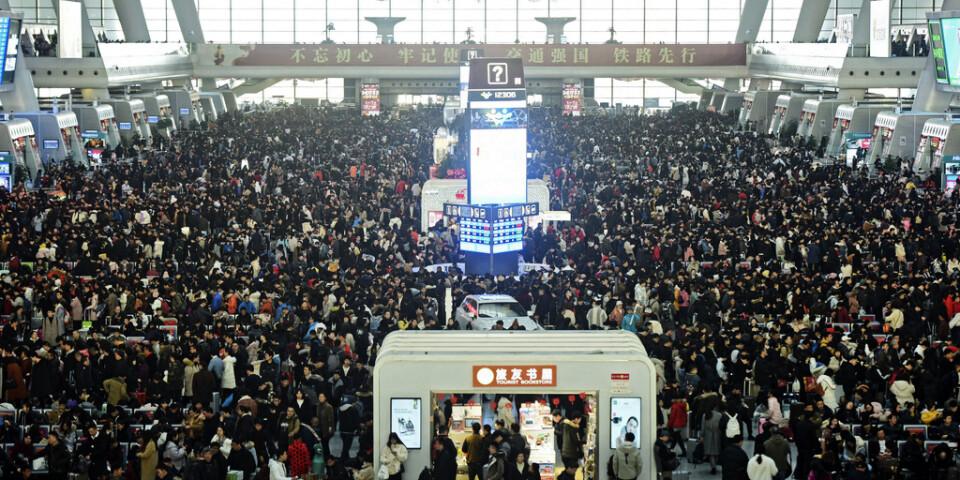 Hundratals miljoner kineser reser i samband med nyårsfirandet. Arkivbild.