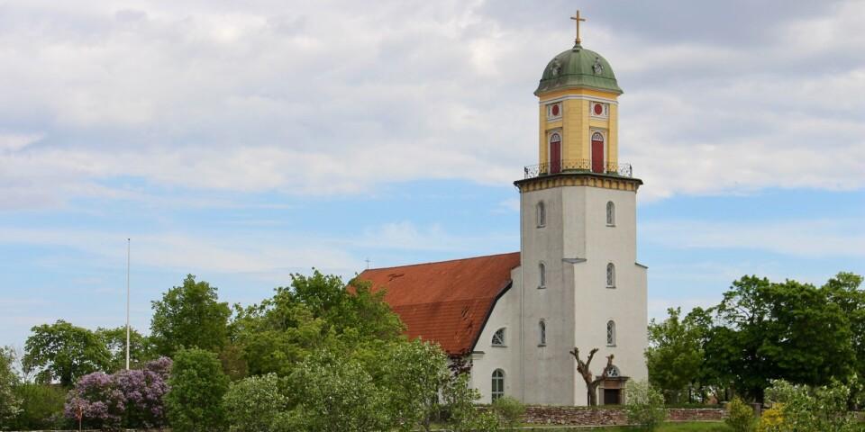 Algutsrums kyrka, maj 2020.