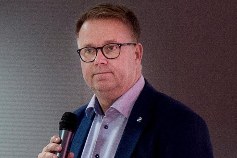 Östers ordförande Jonas Karlsson.