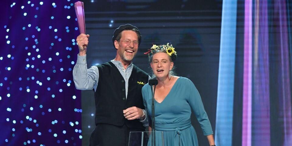 Gustav och Marie Mandelmann på Kristallen-galan 2017.