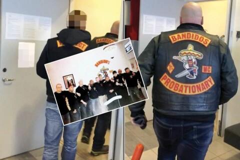 Häktningsförhandlingen övervakades av Bandidos