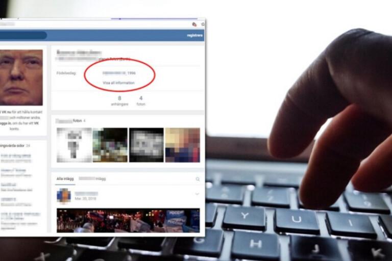 Ulricehamnarens profil på sociala mediet vk. FOTO: Skärmdump från förundersökningen och Naina Helén Jåma / TT. Bilden är ett montage.