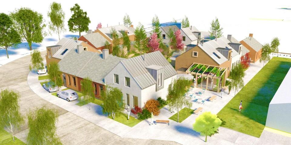 """""""Patchwork of Cottages"""" av Byggnads AB Gösta Bengtsson vann markanvisningstävlingen för Joneberg 3."""